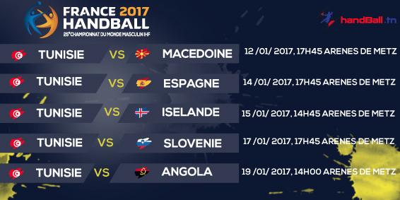 Calendrier Championnat Tunisien.France 2017 Programme Des Rencontres La Tunisie Affrontera