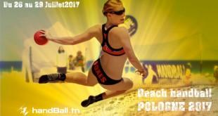 Beach handball jeux mondiaux de Pologne 2017 : Programme de nos dames